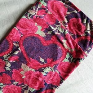LuLaRoe Pants - LuLaRoe Floral Heart Leggings